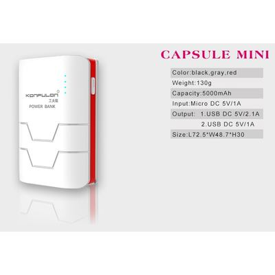 Konfulon Powerbank Capsule Mini 5000mAh White