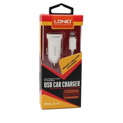 Ldnio DL-C17 2in1 USB Universal Car Charger for iPhone 5/6/iPad, 1000 mA
