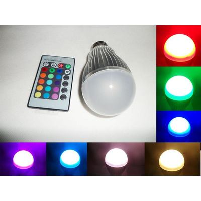5W LED Glühbirne mit Fernbedienung / LED Lamp with Remote