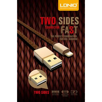 Ldnio LS25 Datenkabel USB Data Cable Doppelseitig Two sides for Micro USB Devices