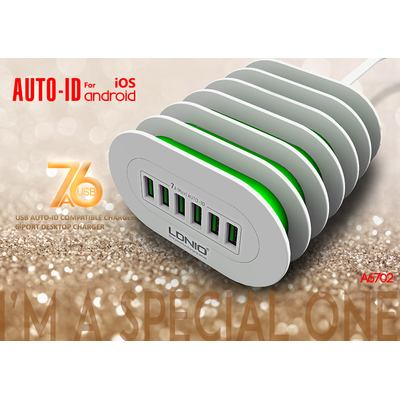 Ldnio A6702 6-Port USB Auto-ID Compatible Charger / Ladegerät